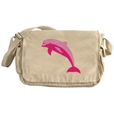 Pink Dolphin Messenger Bag