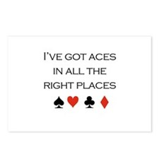 I've got aces in all the right places /poker Postc