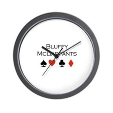 Bluffy Mcliarpants / Poker Wall Clock