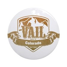 Vail Colorado Ski Resort 4 Ornament (Round)