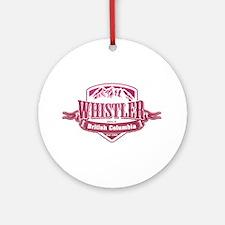 Whistler British Columbia Ski Resort 2 Ornament (R