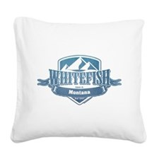 Whitefish Montana Ski Resort 1 Square Canvas Pillo