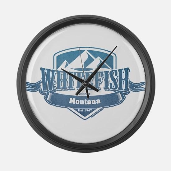 Whitefish Montana Ski Resort 1 Large Wall Clock