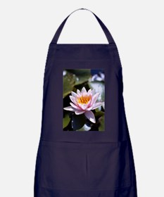 Pink Water Lily Apron (dark)