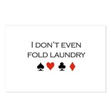 I don't even fold laundry /poker Postcards (Packag