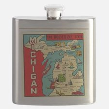 vintage michigan Flask