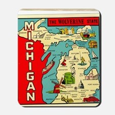 vintage michigan Mousepad