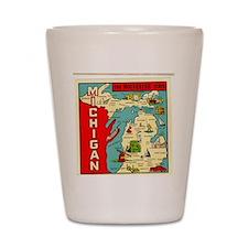 vintage michigan Shot Glass