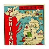 Michigan Drink Coasters