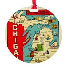 vintage michigan Ornament