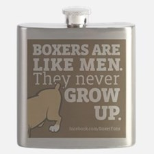 Boxer Dogs and Men Flask