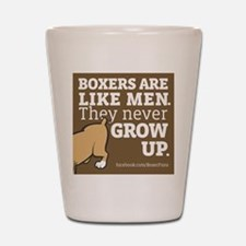 Boxer Dogs and Men Shot Glass