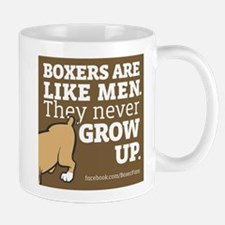 Boxer Dogs and Men Mugs