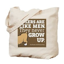 Boxer Dogs and Men Tote Bag