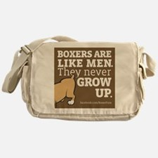 Boxer Dogs and Men Messenger Bag
