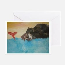 Land Experience with Cat Greeting Card