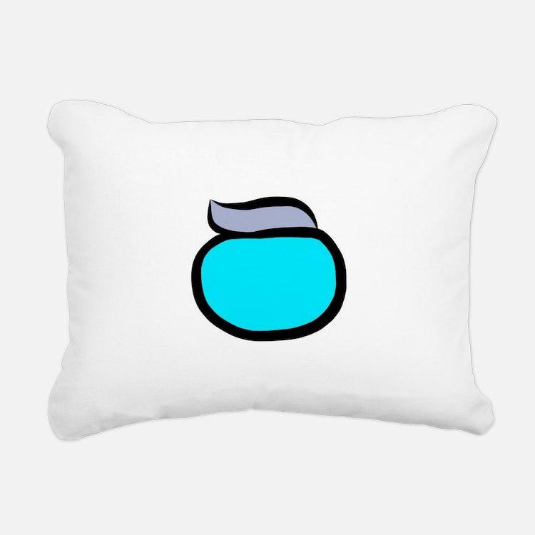 Blue Pacemaker Logo Rectangular Canvas Pillow