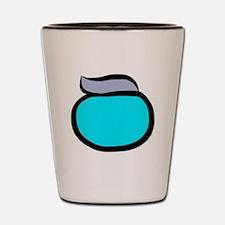 Blue Pacemaker Logo Shot Glass