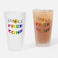 Smoke free zone Drinking Glass