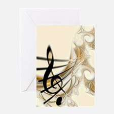 Beautiful Musical Notes Greeting Card