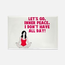 Let's go inner peace Rectangle Magnet