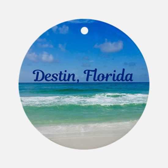 Destin Beach Round Ornament