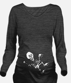 Baby Skeleton Halloween Long Sleeve Maternity T-Sh