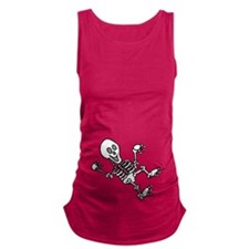 Baby Skeleton Halloween Maternity Tank Top