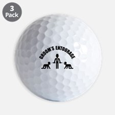 Groom's Entourage (Stag Party) Golf Ball