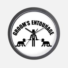 Groom's Entourage (Stag Party) Wall Clock