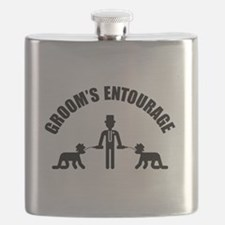 Groom's Entourage (Stag Party) Flask