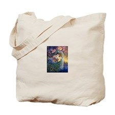 peacock dazzle Tote Bag