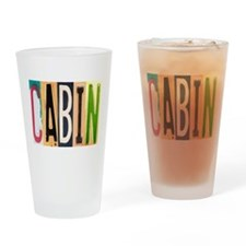 Cabin Letters Drinking Glass