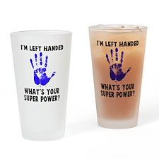 Left Handed Super Power Drinking Glass