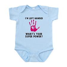 Left Handed Super Power Infant Bodysuit