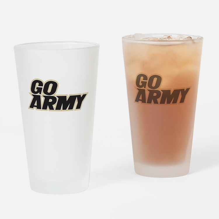 GO ARMY FOOTBALL Drinking Glass