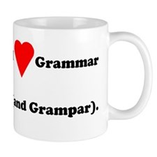 I love grammar and grampar Mug