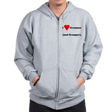 I love grammar and grampar Zip Hoodie