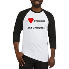 I love grammar and grampar Baseball Jersey