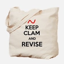 Keep Clam and Revise Tote Bag