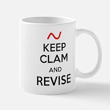 Keep Clam and Revise Mug