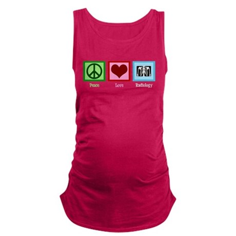 Peace Love Radiology Maternity Tank Top