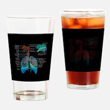 Respiratory system complete dark button Drinking G
