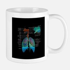 Respiratory system complete dark button Mugs