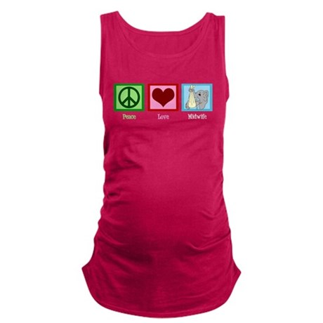 Peace Love Midwife Maternity Tank Top