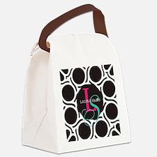 Modern and Elegant Monogram Canvas Lunch Bag