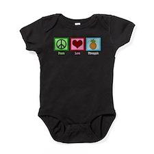 Peace Love Pineapple Baby Bodysuit