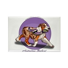 Red Merle Australian Shepherd With Ribbon Purple M