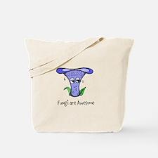 Fungi Are Awesome (Lactarius indigo) Tote Bag