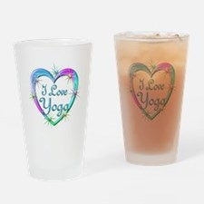 I Love Yoga Drinking Glass